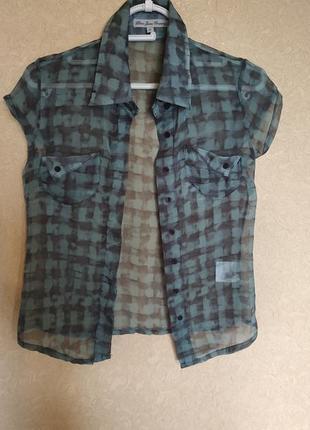 Шифоновая блузка,рубашка xs,158-164