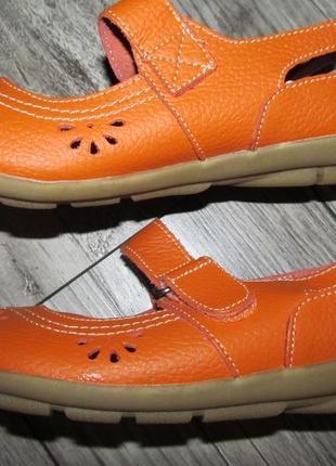 Кожаные туфли балетки annabelle р.5 -24 см