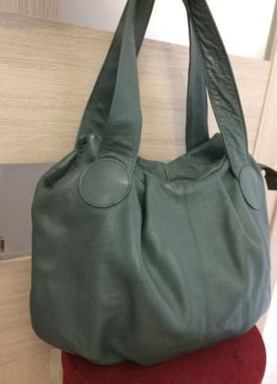 Классная объемная сумка 100% кожа