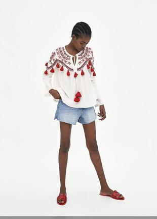Вышиванка блузка zara