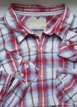 Брендовая рубашка в клетку в стиле кантри bershka от zara