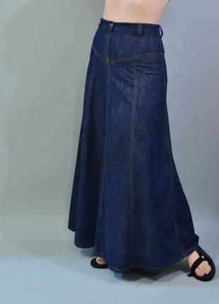 4354\120 длинная джинсовая юбка long tall sally m