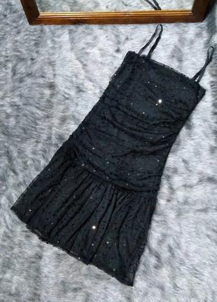 Sale платье декорировано пайетками gina tricot