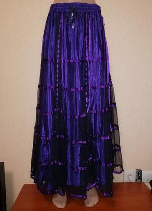 Красивая женская длинная юбка dark star