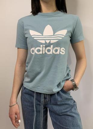 Оригинальная футболка топик топ adidas мятного цвета из новых коллекций