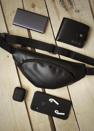 Новая красивая сумка на пояс - через плече - бананка качественная pu кожа / клатч
