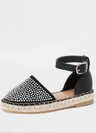 Модные эспадрили сандали босоножки стразы на маленькую модницу