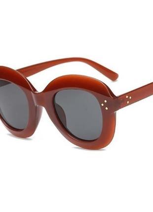 Sale распродажа! коричневые женские солнцезащитные очки гранды массивная оправа