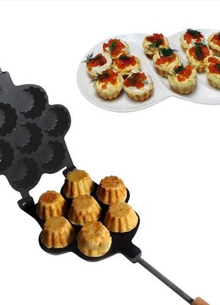 Форма для выпечки больших корзинок кексов и тарталеток с тефлоновым покрытием