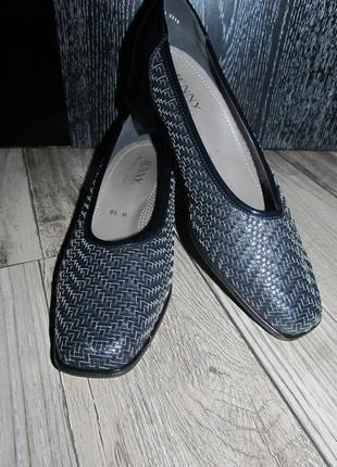 Кожаные туфли jenny by ara р.6,5 н - 26см