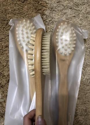 Щетка для масажа, сухая щетка для массажа, от целюлита, суха щітка