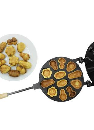 Форма для выпечки печенья «лесное ассорти» (большая) с  тефлоновым