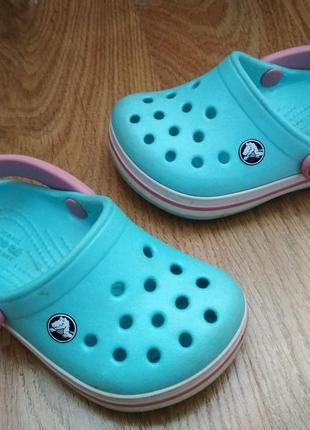 Крокси,кроксы,тапочки, мятного цвета crocs оригинал c5