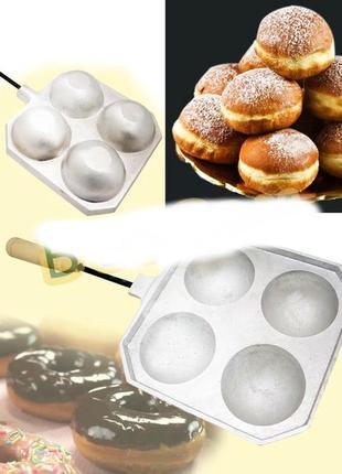 Форма для приготовления творожных, сырных шариков / пончиков (такоячница) на 4 шарика