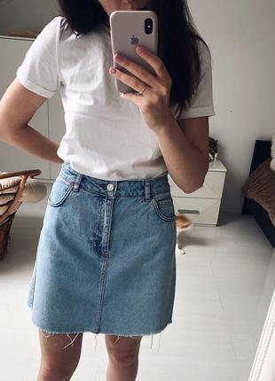 Юбка джинсовая синяя