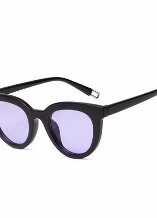 Sale! распродажа! трендовые черные глянцевые очки цветные линзы новинка унисекс имиджевые