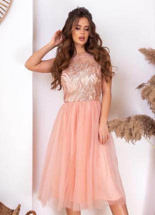 Платье праздничное кружево арт940
