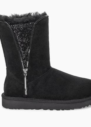 Ugg  classic zip boot 1103764. цвет black. размер 8 us