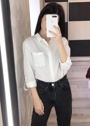 Белая классическая рубашка от primark
