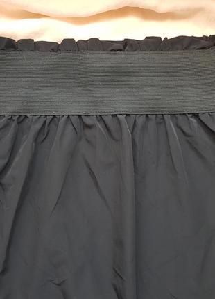 Брендовая базовая топовая черная болониевая мини юбка
