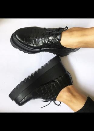 Ботинки на платформе,39р, кожа,италия,оригинал!