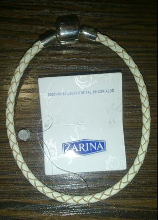 Браслет zarina кожа (по типу pandora)