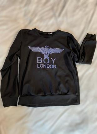 Тонкий чёрный свитшот boy london