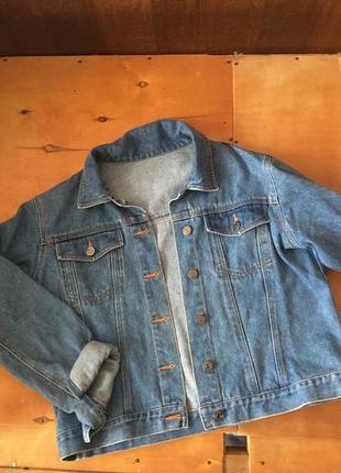 Джинсовка , джинсовая куртка , укорочённая