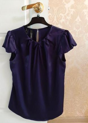 Блуза шелковая mango