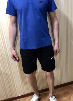 Костюм шорты футболка поло