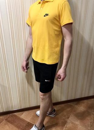 Костюм футболка поло шорты