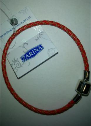 Кожаный браслет zarina с серебряной застежкой