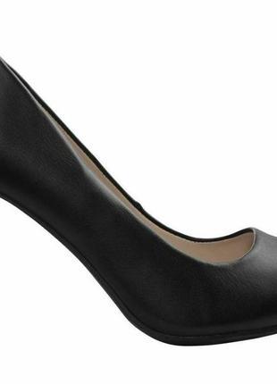 Черные туфли esmara широкий каблук