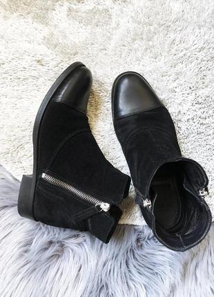 Крутые замшевые ботинки размер 37
