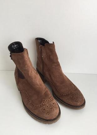 Замшевые ботинки челси gabor