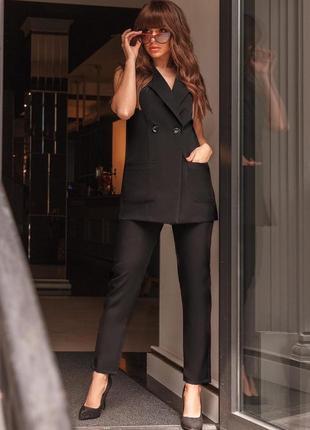 Женский костюм брюки и жилет