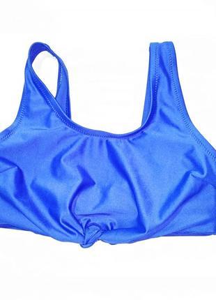 Купальник для девочки 134 см (8-9 years) синий топ kiabi 59392