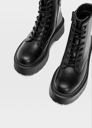 Берцы , деми боты , ботинки на грубой подошве stradivarius