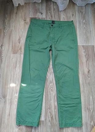 Джинсы зеленые мужские
