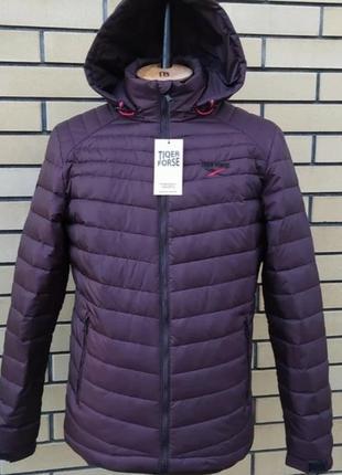 Весенняя куртка с капюшоном, размер 48
