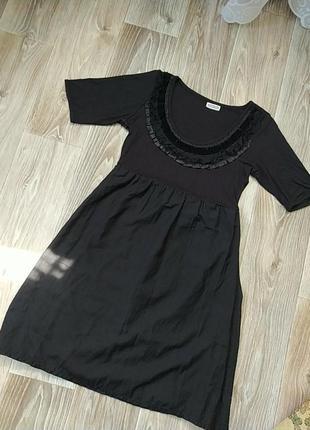 Черное платте вискоза