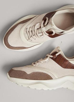 Шкіряні кросівки massimo dutti