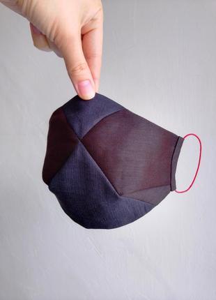 Маска шовкова захисна  3-х слойна,багаторазова. маска шелковая защитная ,  многоразовая.