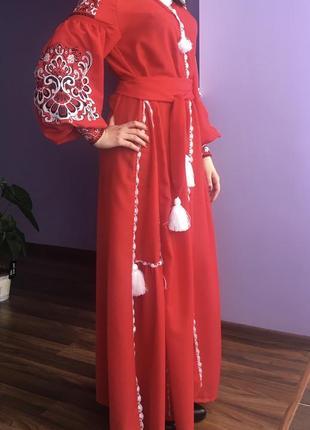Вишиване плаття бохо жарпттця