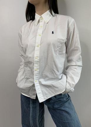 Новая оригинальная белая рубашка polo ralph lauren sport