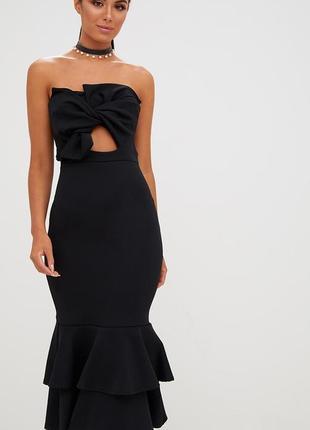 Красивое необычное платье миди