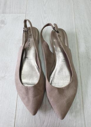 Туфли с открытой пяткой tamaris, размер 41. витринный вариант.