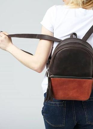 Кожаный рюкзак mihey.bags