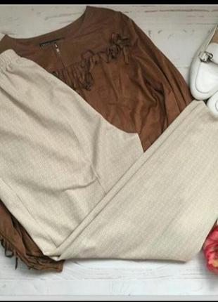 Классные винтажные бежевые брюки, штаны высокая посадка marks& spencer