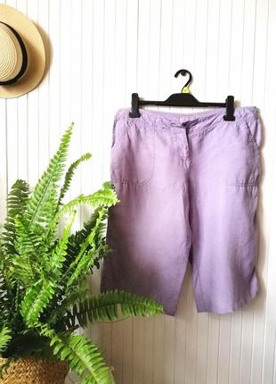Длинные летние шорты натуральная ткань шорты лен шорти льон